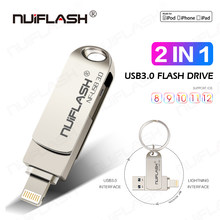 Usb Flash Drive para iPhone 6/6 s/6/6 Plus/7/7 Plus/8/X Usb/Otg/Lightning 2 en 1 pluma iOS dispositivos de almacenamiento externo(China)