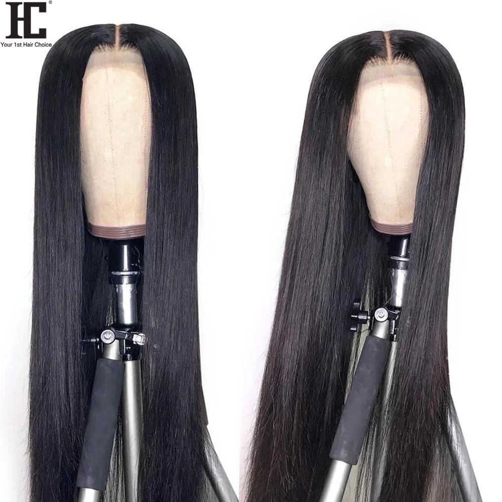 Spitze Front Menschliches Haar Perücken Brasilianische Gerade 150% Dichte 13x4 Spitze Vorne Perücke Pre Gezupft Mit Baby Haar remy Mittleren Teil Perücke