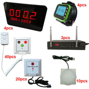 Nurse Call System Price with 60pcs Hospital Call Button Emergency Nurse Call Bell LED Panel Watch String pull nurse call