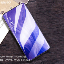 цена на IMIDO Full Coverage Anti-blue Purple Light 2.5D Tempered Glass For OPPO Reno 6.4 10X ZOOM Z 6.4 Screen Protector Protective Film