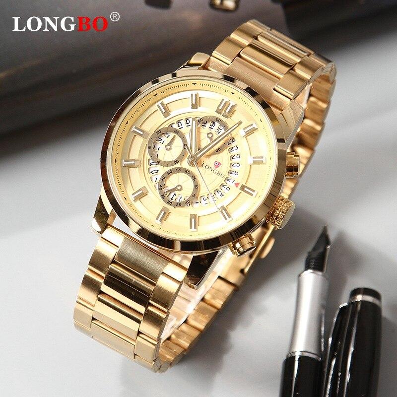 LONGBO 2020 Top Brand Mens Military Watches Luxury Digital Quartz Men Watch Bussiness Wristwatch Clock Male Relogio Masculino