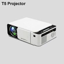 лучшая цена T5 Portable LED Projector 4K 2600 Lumens 1080P HD Video Projector USB HDMI Beamer For Home Cinema Optional Wifi Projector T6