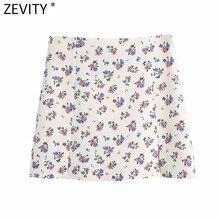 Zevity nowe kobiety w stylu Vintage, w kwiaty drukuj Casual lniana spódnica Faldas Mujer kobieta boczny zamek błyskawiczny Split odchudzanie lato Vestidos QUN750