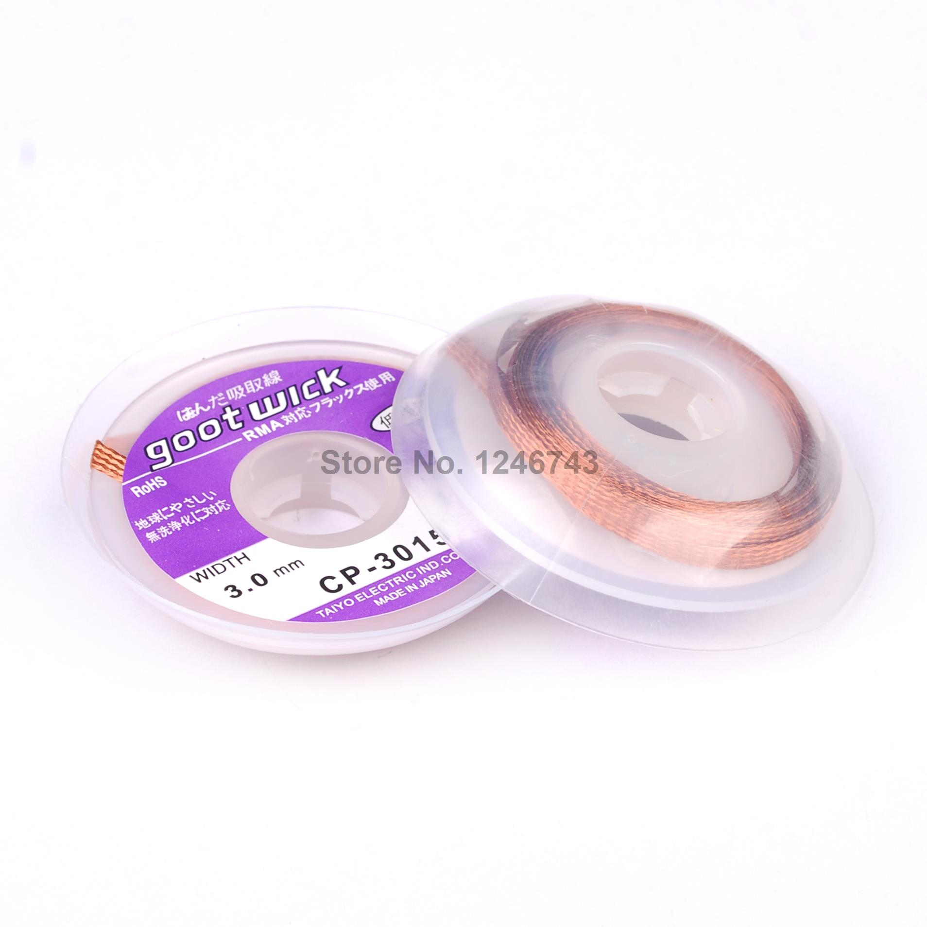 1PCS/LOT BGA Desoldering Braid Solder Wick Tin Remover Wire CP-3015 Soldering Accessory Wholesale Desoldering Wire