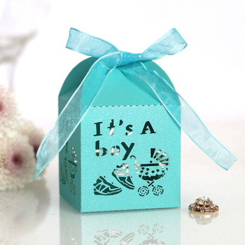 10PCS Crossing Candy Boxes Chocolate Wrapping Paper Gift Dragee Box Bag Baby Shower Baptism Birthday Favor Wedding Party Decor image