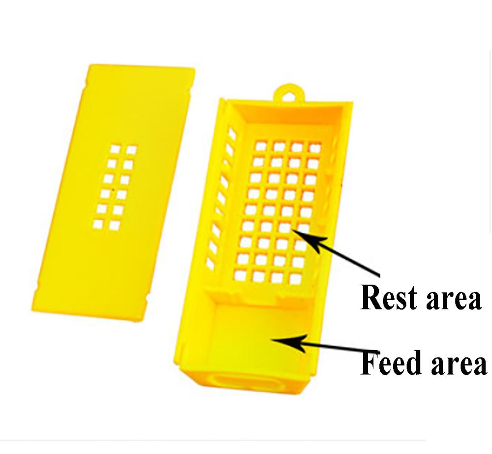 15PCS Beekeeping Equipment Transport Cages Plastic King Prisoner Bees Queen Post Room Cage Bees Tools Yellow White Apiculture
