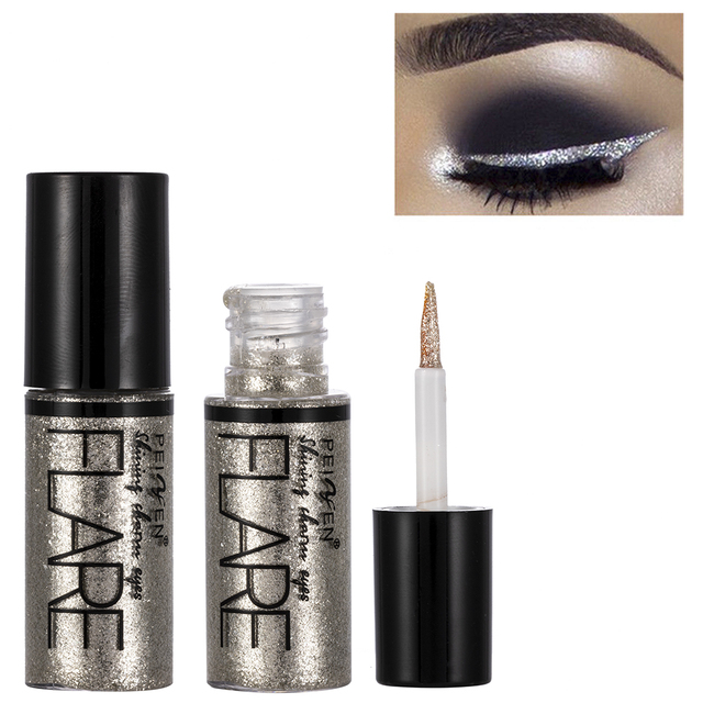5 Color Metallic Shiny Eyeshadow Glitter Liquid Eyeliner Makeup Eye Liner Pen-Waterproof Makeup Pigment Eyeshadow Palette 4