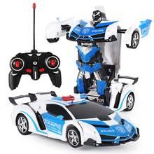 Deformation Car Kids Toys 2 In 1 RC Police Toy Car