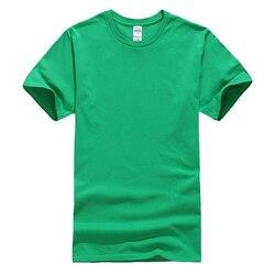 Hoge Quality100 % Katoenen T-shirt Oversized Mannelijke T-shirt Korte Mouw Solid Casual T-shirt Mens Tops Tee