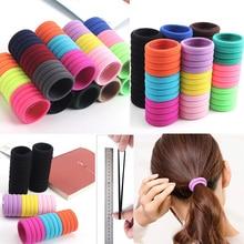 10 шт./лот, женские резинки ярких цветов, 3 см., эластичные резинки для волос для девочек, конский хвост, аксессуары для волос