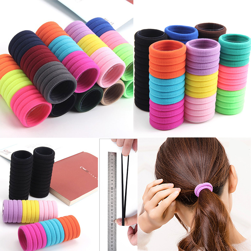 10Pcs/Lot Women Candy Colors 3CM Rubber Bands Girls Elastic Hair Bands Ponytail Holder Hair Accessories