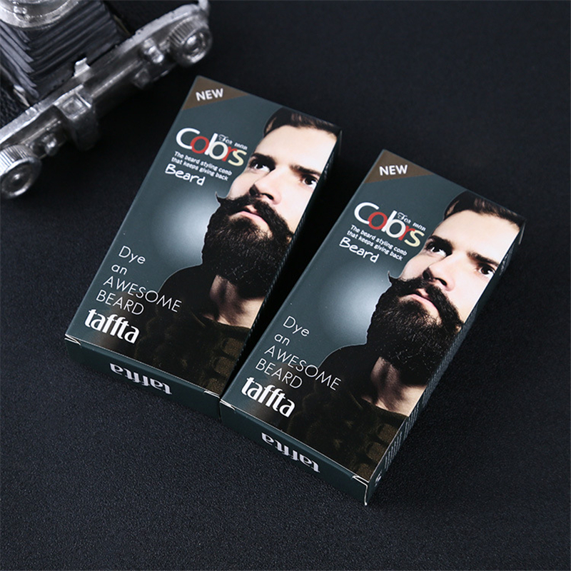 100% Natural Beard Dye Cream Men Mustache Beard Cream Natural Black Dye Wax Fast Color Long Lasting Black Beard Care Tint Cream