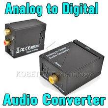 KEBDIU AMPLIFICADOR convertidor de Audio analógico a Digital, decodificador óptico Coaxial RCA Toslink, adaptador de sonido SPDIF para TV