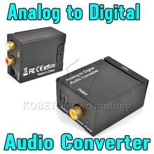 KEBDIU التناظرية إلى الرقمية محول صوت مكبر للصوت فك البصرية محوري RCA Toslink الصوت محول الصوت SPDIF محول للتلفزيون