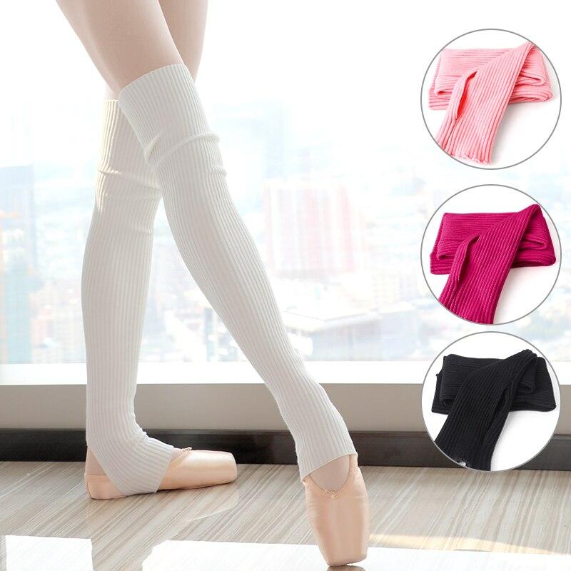 Girls Women Long Stocking Dance Knitted Leg Warmers Professional Warm Ballet Socks
