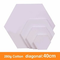 Hexagonal Oil Frame, Oil Frame, Cotton Canvas Polygon And Multi specification