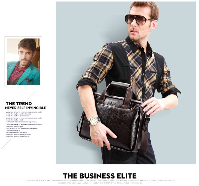 H80c2e82d5f3e4154b6150cf9603d5f50o 2019 New Fashion cowhide male commercial briefcase /Real Leather vintage men's messenger bag/casual Natural Cowskin Business bag