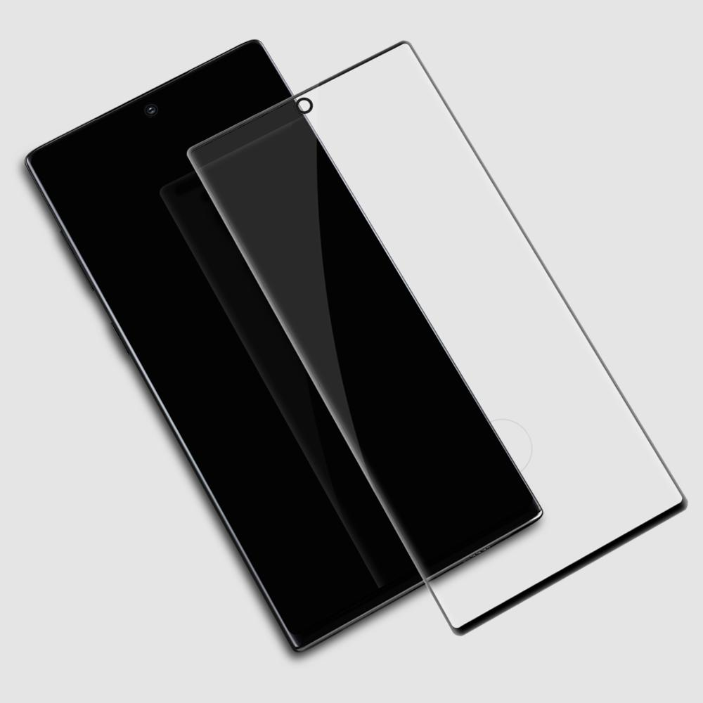 Image 3 - for Samsung Galaxy Note 10 9 8 S10 S9 S8 Plus Glass Screen Protector Nillkin 3D Full Glue Cover Tempered Glass for Samsung S10E-in Phone Screen Protectors from Cellphones & Telecommunications on