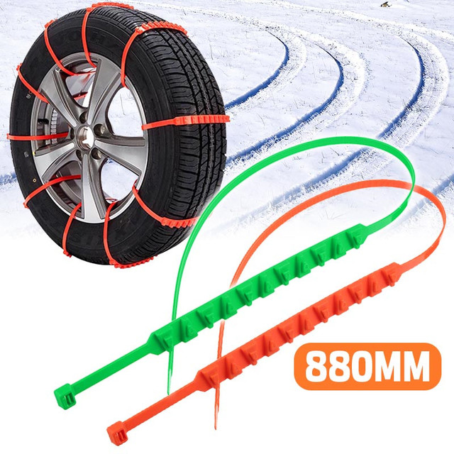 10pcs/set Snow Chains Universal Car Suit 145-295mm Tyre Winter Roadway Safety Tire Chains Snow Climbing Mud Ground Anti Slip