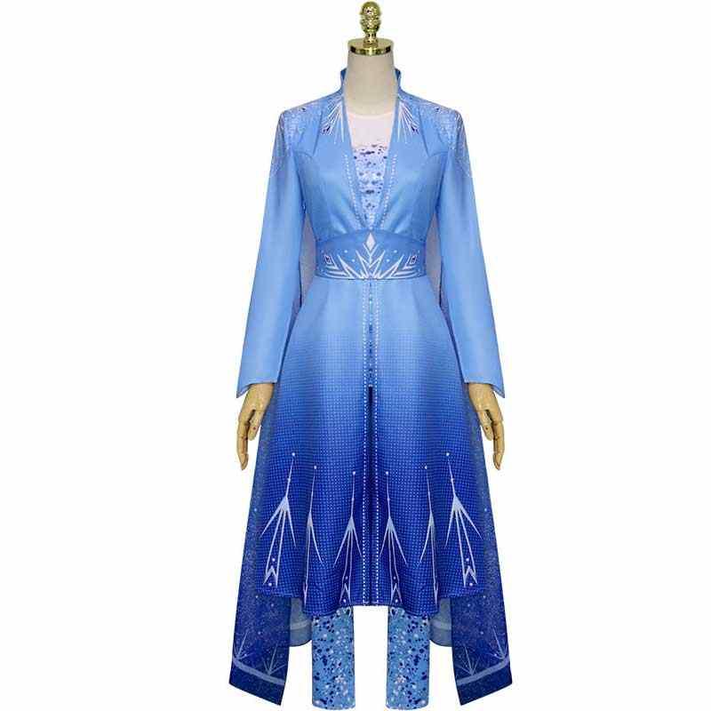 디즈니 냉동 2 안나 엘사 의상 공주님 드레스 엘사 코스프레 여성 할로윈 의상 냉동 엘자 Vestidos 성인/여자 드레스