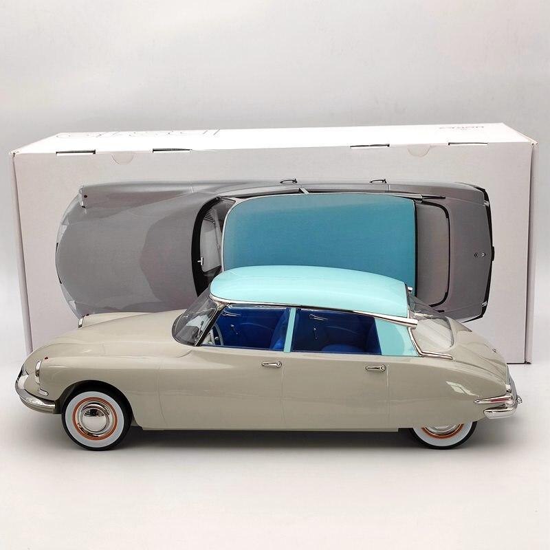 Norev 1/12 pour Citroen DS 19 1956 Gris rose & Turquoise moulé sous pression modèles édition limitée Collection Auto jouets voiture cadeau 121566