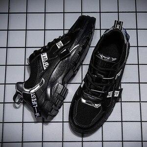 Image 5 - BIGFIRSE Casual Shoes Men New Brand Design Men Casual Shoes Fashion Leisure Designer High Top Shoes Man Trend Flat Sneaker Shoes