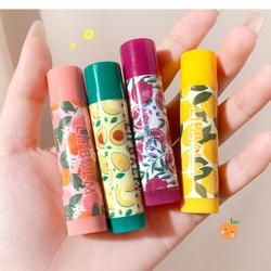 1PCS Fruits Flavor Lip Balm Moisturizing Waterproof Long Lasting Anti-drying Color Mood Changing Natural Lip Balm TSLM1