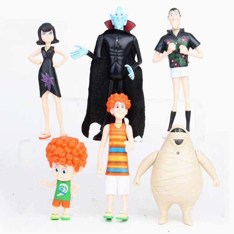 6pcs/set Hotel Transylvania 3 Action Figure Toys Dracula Johnny Dennis Mavis Frank Model Doll