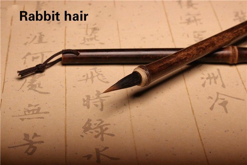 Cabelo de coelho tradicional caligrafia chinesa escrita