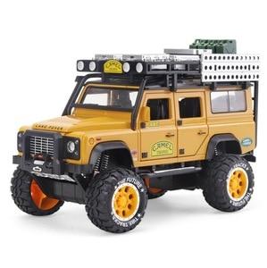 Image 4 - 1:28 סגסוגת Diecast דגם מכונית צעצוע גמל Defender מתכת צעצועי כלי רכב גביע למשוך חזרה צליל אור אוסף לילדים מתנות