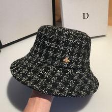 Панама женская хлопковая в клетку дизайнерская шапка от солнца