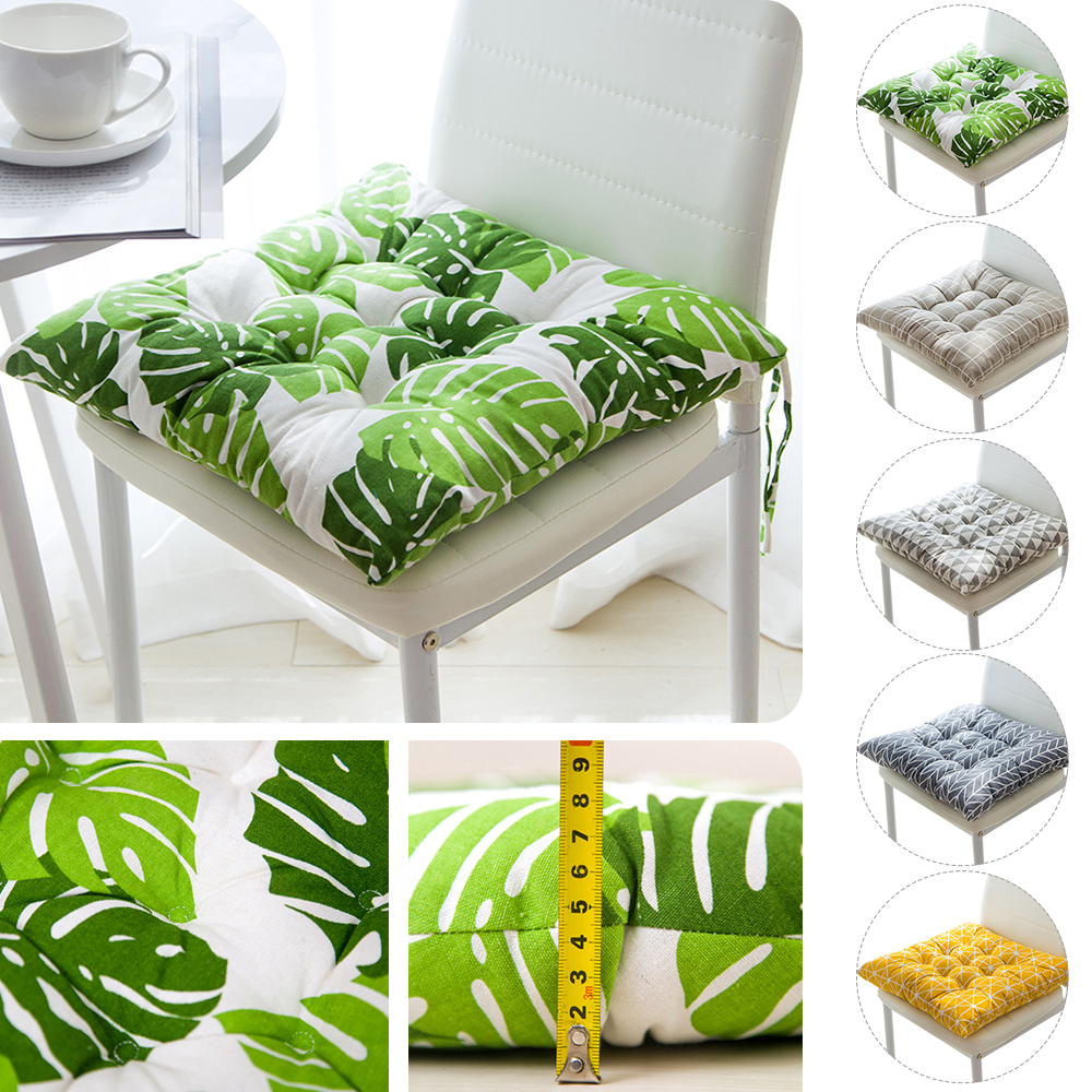 Seat Cushion Pads Chairs Sofa Soft-Pillow Non-Slip Printed Leaf Square Cotton Multiple-Styles title=
