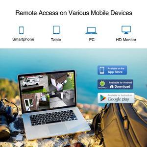 Image 4 - Camera SANNCE HD 8CH CCTV Sistema 1080P HDMI DVR 2.0MP CCTV Telecamera di Sicurezza 4PCS 1080P Macchina Fotografica Esterna di IR video di Sorveglianza kit
