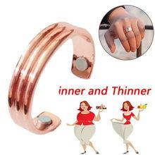 Moda emagrecimento anel de dedo micro magnético perda de peso anel de dedo queima de gordura corda estimulando acupoints fitness cuidados de saúde