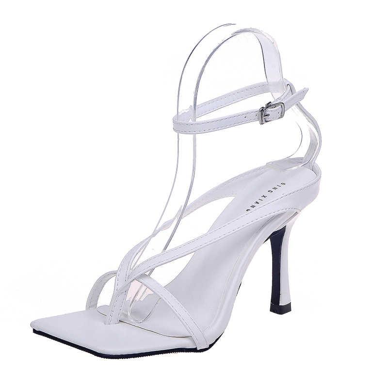 ผู้หญิงปั๊มStilettoฤดูร้อนสายคล้องข้อเท้ารองเท้าโรมรองเท้าแตะผู้หญิงเซ็กซี่เปิดToe Partyรองเท้าแตะแฟชั่นส้นสูงรองเท้าสุภาพสตรีรองเท้า 2020