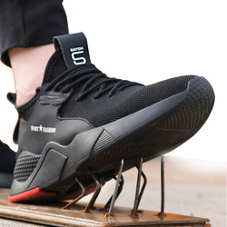 Sapatos de segurança de trabalho mulher e homem ser aplicável ao ar livre toe de aço anti esmagamento proteção anti-deslizamento à prova de punção sapatos de segurança