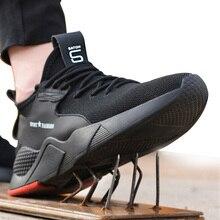 Zapatos de seguridad de trabajo para mujer y hombre, calzado de seguridad con punta de acero antideslizante y antigolpes