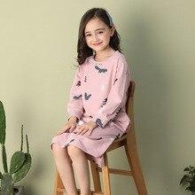 Новая Осенняя детская пижама с длинными рукавами для сна для девочек осенняя одежда для родителей и детей