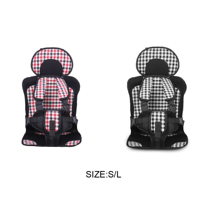 Children Car Safety Seat Cushion With Portable Safe Belt Mat For 0-3-12 Years
