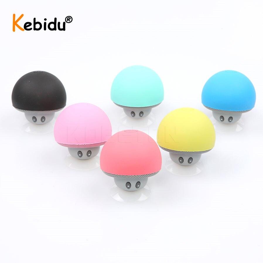 Портативная беспроводная Bluetooth-Колонка KEBIDU с мини-грибом, водонепроницаемая стереоколонка, музыкальный плеер для Xiaomi, iPhone 8, XS, Android