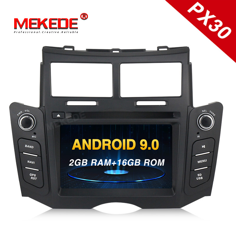 PX30 Android 9.0 2G +16G ROM Car DVD player Radio Stereo For toyota Yaris 2005 2011 with WIFI BT 3G DAB+ GPS