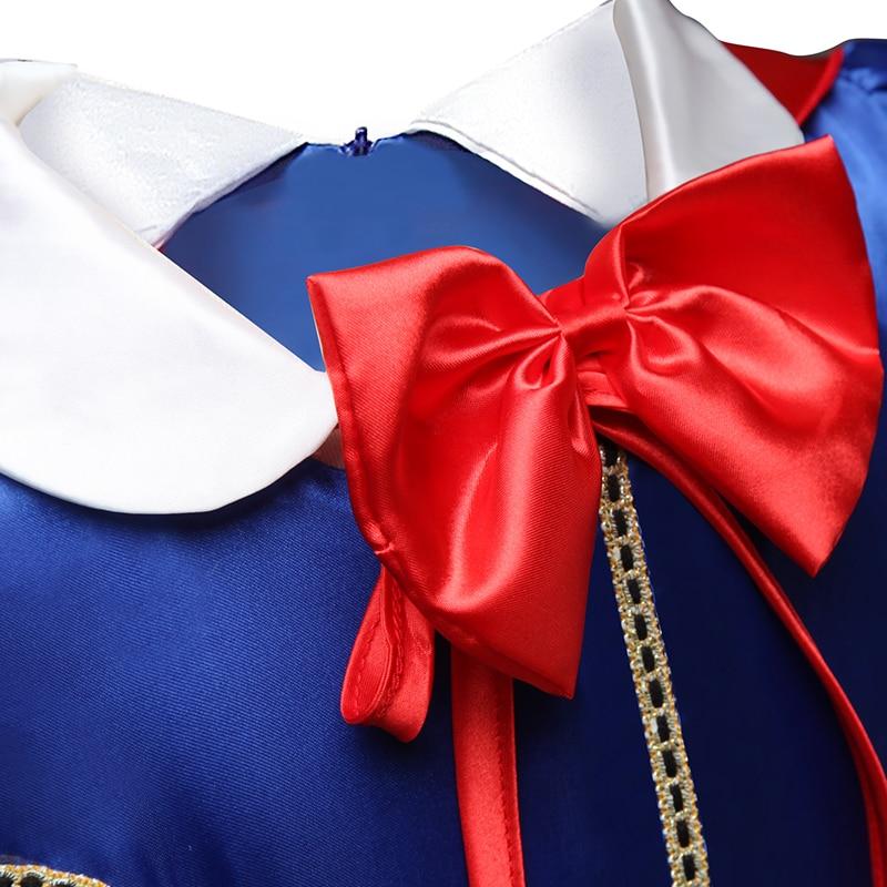Girls Dress Princess Costume Children Cosplay Party Disfraz Kids Halloween Robe Fille 6