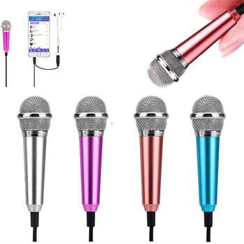 Mini mikrofon przewodowy 3 5mm złącze Audio dla IPhone Samsung Android telefon komórkowy Laptop Notebook Studio Mic Microfono tanie i dobre opinie T ACYML Mikrofon ręczny Mikrofon pojemnościowy mini microphone Wielu Mikrofon Zestawy Dookólna 18 * 55mm 110V 30HZ ~ 20KHZ