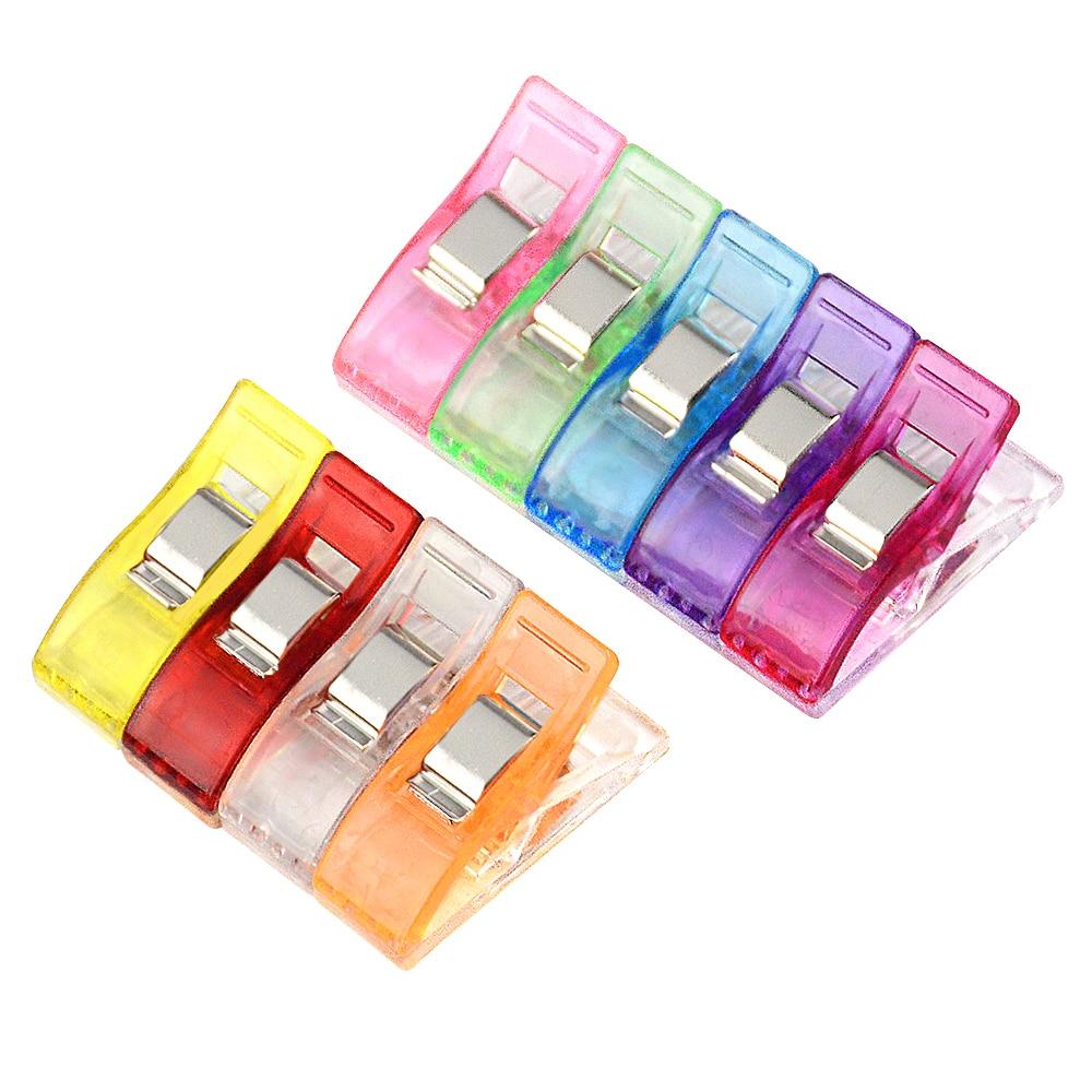 Clips plastique multicolores à ourlet | 10 pièces, étui pour pied pour emploi, outils de couture, accessoires de couture, artisanat de couture, Patchwork Clip de couture