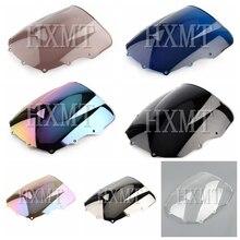 Dla Kawasaki ZZR400 ZZR600 ZZR 400 ZZR 600 1993 2007 1993 1994 1995 1996 1997 1998 1999 2000 czarny szyby przedniej szyby