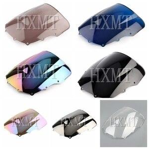 Image 1 - For Kawasaki ZZR400 ZZR600 ZZR 400 ZZR 600 1993 2007 1993 1994 1995 1996 1997 1998 1999 2000 black Windshield WindScreen