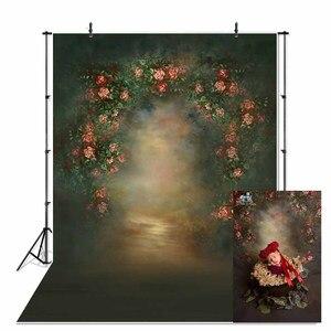 Image 1 - NeoBack printemps Vintage classique fleur nouveau né bébé Photocall toile de fond Studio professionnel grands fonds de photographie en Stock