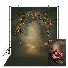 Vinilo fino interior Vintage clásico foto boda Floral fotografía telón de fondo impreso fotografía retrato de estudio foto de fondo