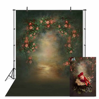 Thin Vinyl Indoor Vintage Classic Photo Wedding Floral Photography Backdrop Printed Photography Studio Portrait Photo background