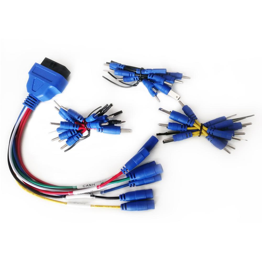 Voiture 16 broches femelle OBD2 outil de Diagnostic connecteur adaptateur câble universel 16 broches OBD II Kit de câble adaptateur de Diagnostic